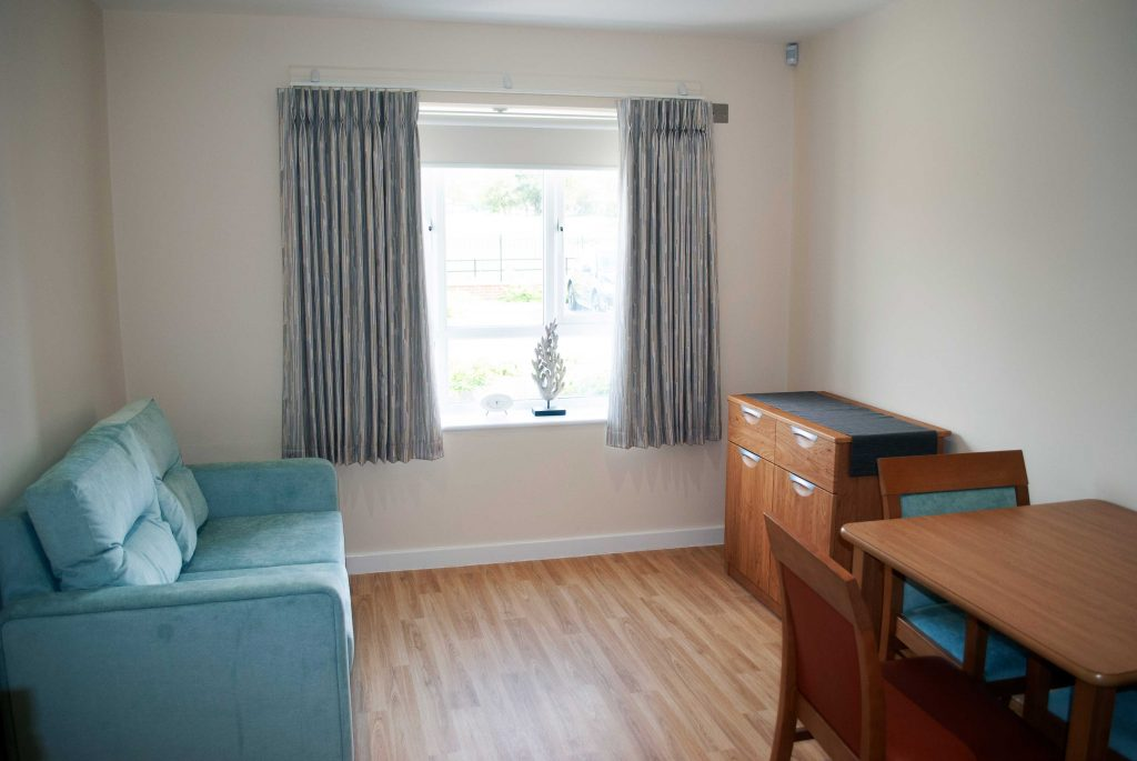 A resident's living room at Millcroft