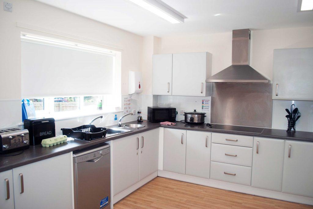 Communal kitchen at Millcroft